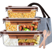 iCook 玻璃饭盒套装 无隔 2个装 410ml 16.8元(需用券)¥17
