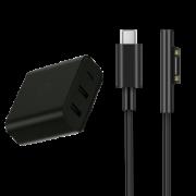 Zmi紫米surface pro6微软充电器type-c转Connect 154元(需用券)