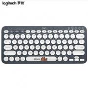 罗技 LINE FRIENDS系列-布朗熊 多设备蓝牙键盘 K380