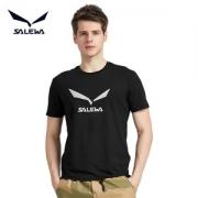 德国 沙乐华 涤氨速干吸湿面料 男女弹力跑步T恤 胸前鹰标Logo