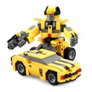 CaDA咔搭积木机器人系列C52020大黄蜂汽车人267颗粒