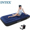 PLUS会员:INTEX 68950 蓝色植绒单人充气床垫76元