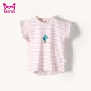Miiow 猫人 夏季纯棉女童短袖T恤 *2件 39.8元包邮(需用券,合19.9元/件)¥40