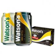 Watsons 屈臣氏 苏打汽水混合系列饮料(原味20罐 + 柠檬草味4罐)330ml*24罐 *2件 138元(双重优惠)¥138