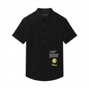 GXG 182223280 男士趣味短袖衬衫