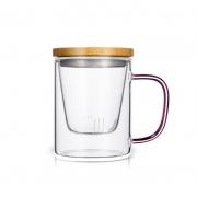 天猫 杯元素 耐热玻璃茶杯 400ml 把手颜色随机 13.36元包邮¥13