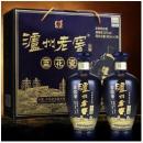 泸州老窖 蓝花瓷 头曲 52度 浓香型 白酒 双瓶礼盒升级版 整箱装 (500ml*2)*3盒343.2元