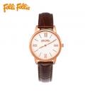 Folli Follie 芙丽 WF15R033SPW WF15R033-棕色 皮革腕表
