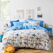 Dohia 多喜爱 飞行梦 儿童全棉斜纹床单四件套 1.5米