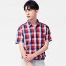 lativ 诚衣 46756 男士格子短袖衬衫 低至58.65元¥69