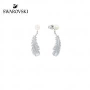 61预售:施华洛世奇 羽毛元素 5496052 优雅气质女耳环
