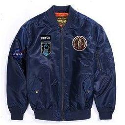 Luxury Lane NASA款 男士MA1空军飞行夹克
