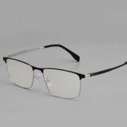 HAN 纯钛商务近视眼镜框架+1.60非球面防蓝光镜片
