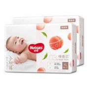 Huggies 好奇 铂金装婴儿纸尿裤 XL96片 *2件330元包邮(需用券,合165元/件)