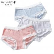 61预售:歌瑞尔 BWM16016 女士棉质内裤 3条39.5元包邮(付定金20元,1日付尾款)