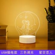 Menelaus 平面3D小夜灯 三色调光 插电款 9.9元包邮