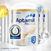 61预售:Aptamil爱他美 白金版幼儿配方奶粉 3段 900克 6罐装