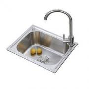 ANNWA 安华 anGP504001R-JZ 不锈钢水槽单槽 带龙头沥水盘