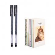 M&G 晨光 中性笔 2支装 送1个本子 1.9元包邮(需用券)