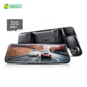360 M320 全面屏流媒体后视镜 行车记录仪+后拉摄像头+32g卡