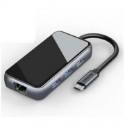SAMZHE 山泽 六合一Type-C扩展坞(PD快充、千兆网口、HDMI、USB3.0*3)129元
