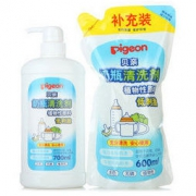 PIGEON 贝亲 奶瓶 PL156 清洗剂补充套装 700ml+600ml *2件