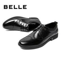 61预告、京东PLUS会员: BeLLE 百丽 6BT01CM9 男士商务正装皮鞋
