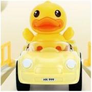 B.Duck 小黄鸭 儿童玩具积木拼装口袋玩具车