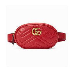GUCCI 古驰 GG Marmont系列 绗缝皮革腰包