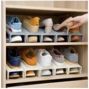 日本鞋子收纳神器省空间放鞋器鞋柜内置分层装鞋架双层鞋托可调节