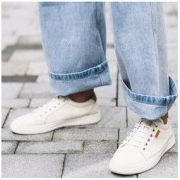 京东PLUS会员: BELLE 百丽 6RU01CM9 男士牛皮革板鞋
