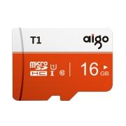 aigo 爱国者 T1高速版 microSDHC UHS-I U1 TF存储卡 16GB
