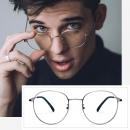 HAN 汉 HD9023 合金眼镜架+1.6 防蓝光镜片 99元包邮(需用券)¥99