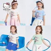 Hellokitty凯蒂猫 2020年夏新款 女童 洋气短袖运动套装
