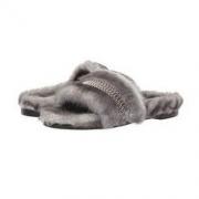 kendall+kylie SHADE3/4 女士珠绣装饰一字毛绒拖鞋99元