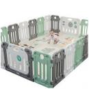 丘巴 婴儿围栏16小片+门栏+游戏栏233元包邮(需用券)