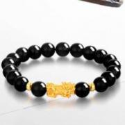 ZSK 足金999 KSLS375 貔貅玛瑙手链 0.4-0.5g