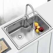 ARROW 箭牌 AE556505G 304不锈钢水槽单槽含抽拉龙头 568元包邮(双重优惠)