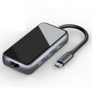 SAMZHE 山泽 六合一Type-C扩展坞(PD快充、千兆网口、HDMI、USB3.0*3) 129元包邮(需用券)¥129
