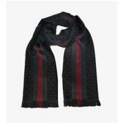 GUCCI 古驰 147351-4G704-1166 中性款双G条纹拼色围巾1429.44元