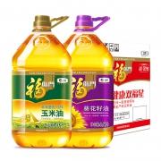 福临门 黄金产地玉米油3.68L+葵花籽油3.68L 组合装 *4件 213.46元(多重优惠)¥213