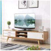 A家家具 ADC-77 电视柜 原木色+荷花白 *2件