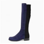 STUART WEITZMAN 斯图尔特·韦茨曼 HALF N HALF系列 女士绒面革低跟长靴4789.44元