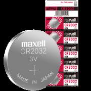 Maxell 麦克赛尔 CR2032 通用钮扣电池 *5粒装 9.9元包邮(需用券)¥10