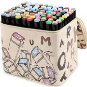 touch mark双头马克笔套装学生动漫彩色笔记号笔马克笔初学者小学生绘画T3笔