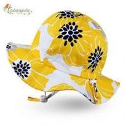 Twinklebelle 儿童黄色花朵遮阳帽
