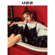 Lagogo 拉谷谷 HCLL837M31 学院风T恤连衣裙两件套