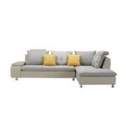 KUKA 顾家家居 B001-1 现代简约皮布沙发 3人位+右躺位3999元包邮(下单立减)