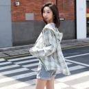 耶芙茹 防嗮纯棉格子衬衫19.8元包邮(需用券)