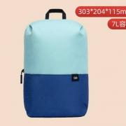 小米背包 小背包 绿蓝拼色 7L15.9元包邮
